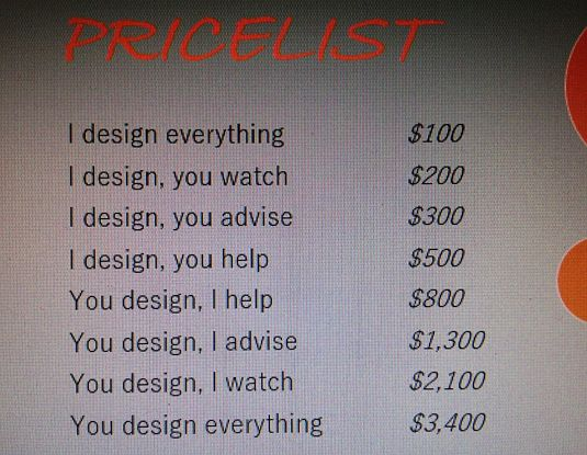This Graphic Designer S Price List Is Priceless Funny Design Graphic Design Design