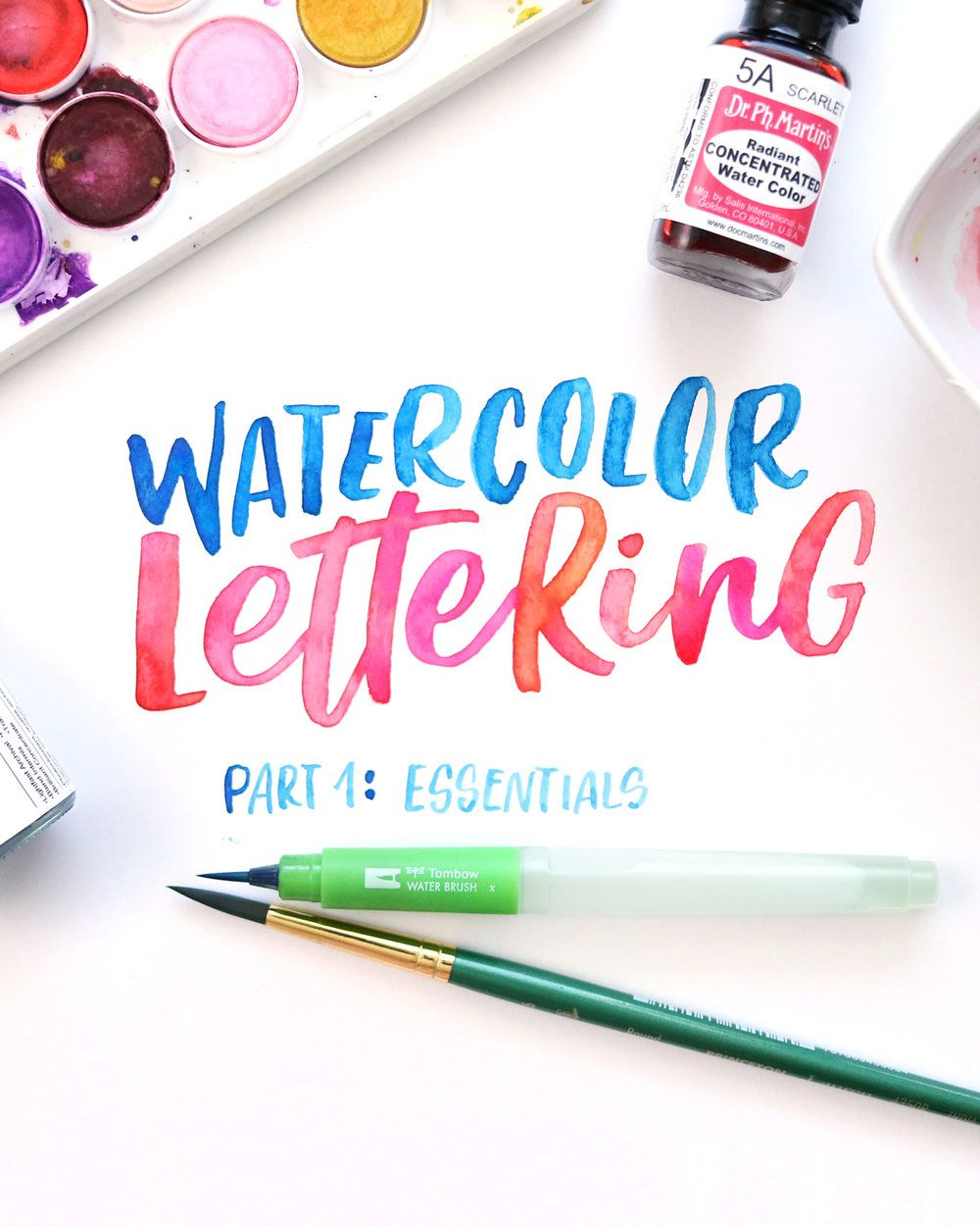 You Can Learn Watercolor Brush Lettering Lettering Watercolor