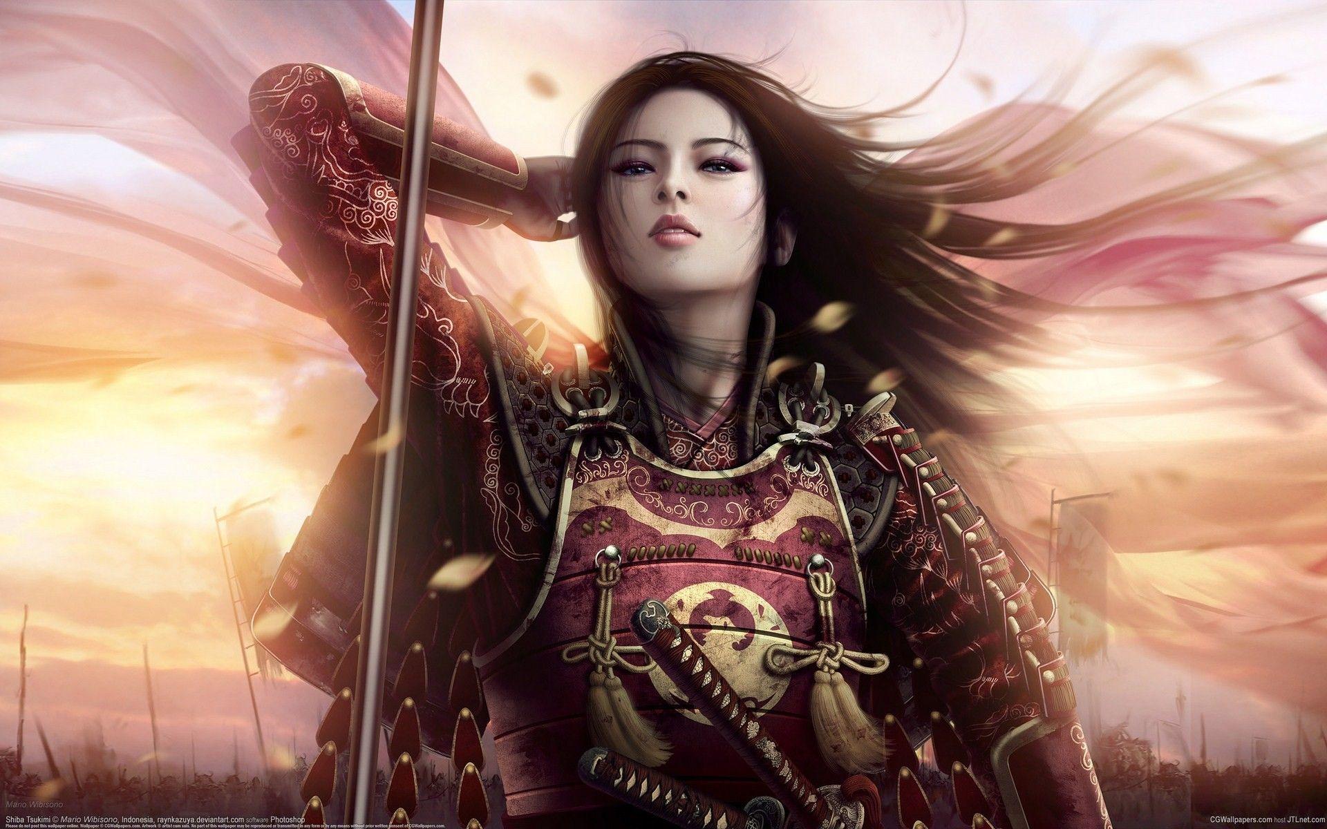 Hd Female Samurai Wallpaper Download Free 104661 Female Samurai Fantasy Women Warrior Woman
