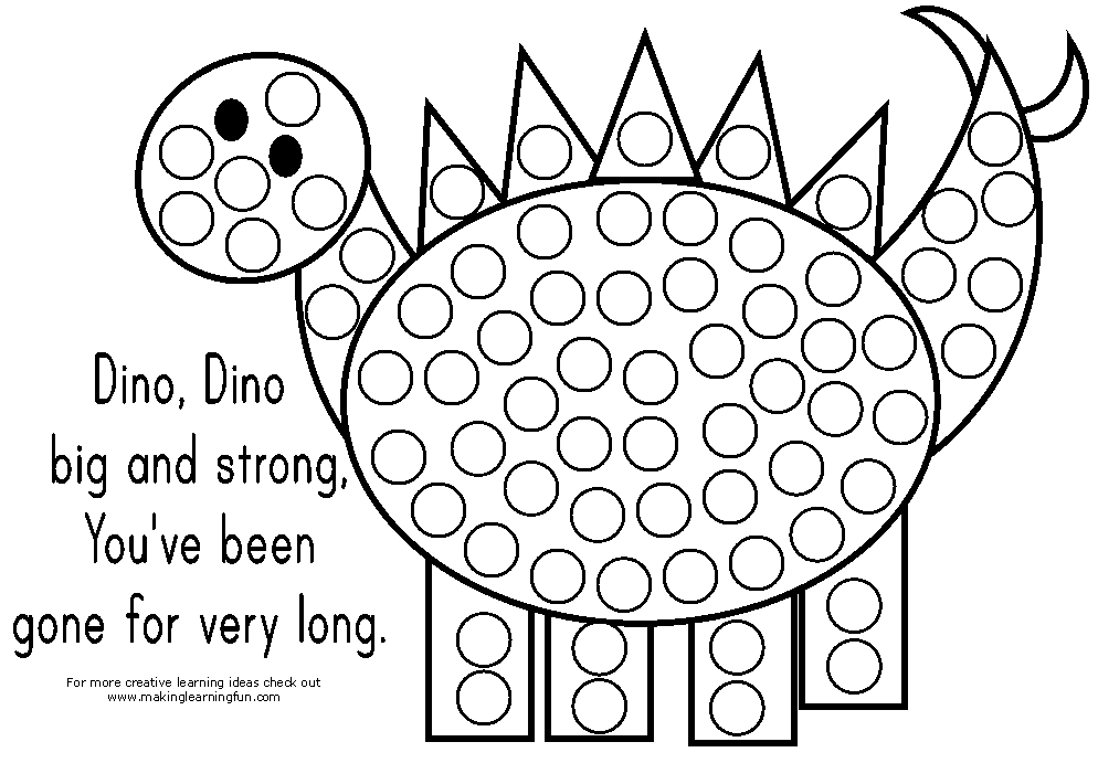 Tons of do a dot printables. Great for fine motor practice
