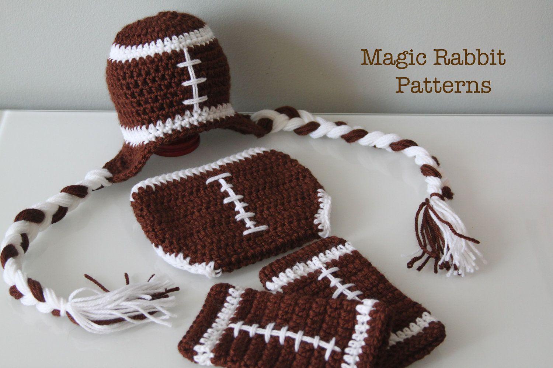 Newborn Crochet Football Hat, Diaper cover and Leg Warmers - PDF ...