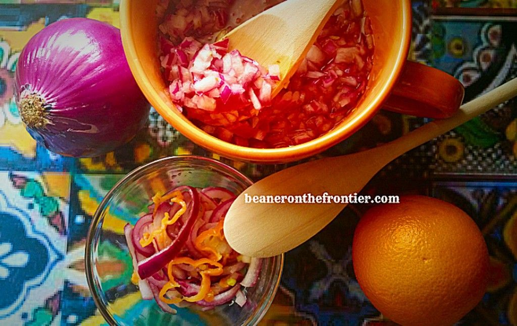 Habanero and Red Onion Salsa (and Habanero-free Red Onion Salsa), by beaneronthefrontier.com
