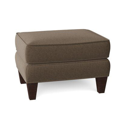 Fairfield Chair The small size of this Leland Ottoman suggests it might also be used in pairs as accent pieces. Body Fabric: 8794 Parchment, Leg Color: Espresso