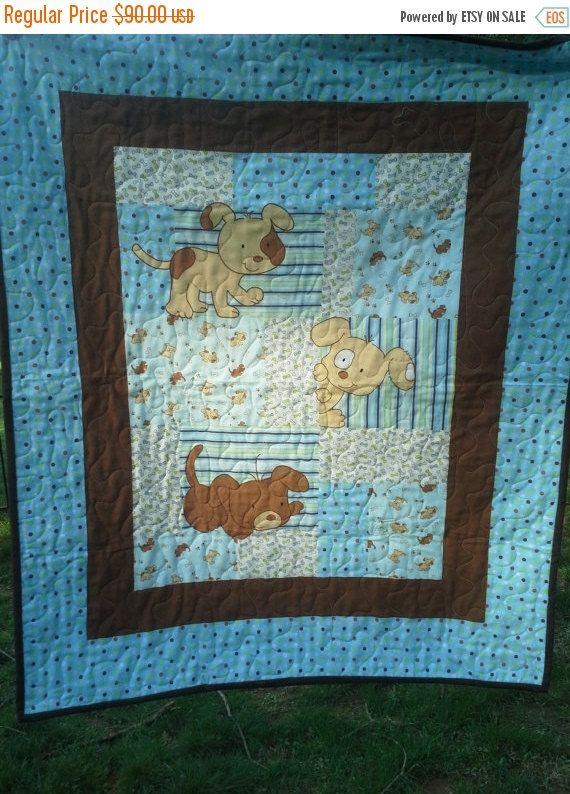 Baby Boy Crib Quilt Baby Boy Shower Gift New Baby by QuiltsForU2