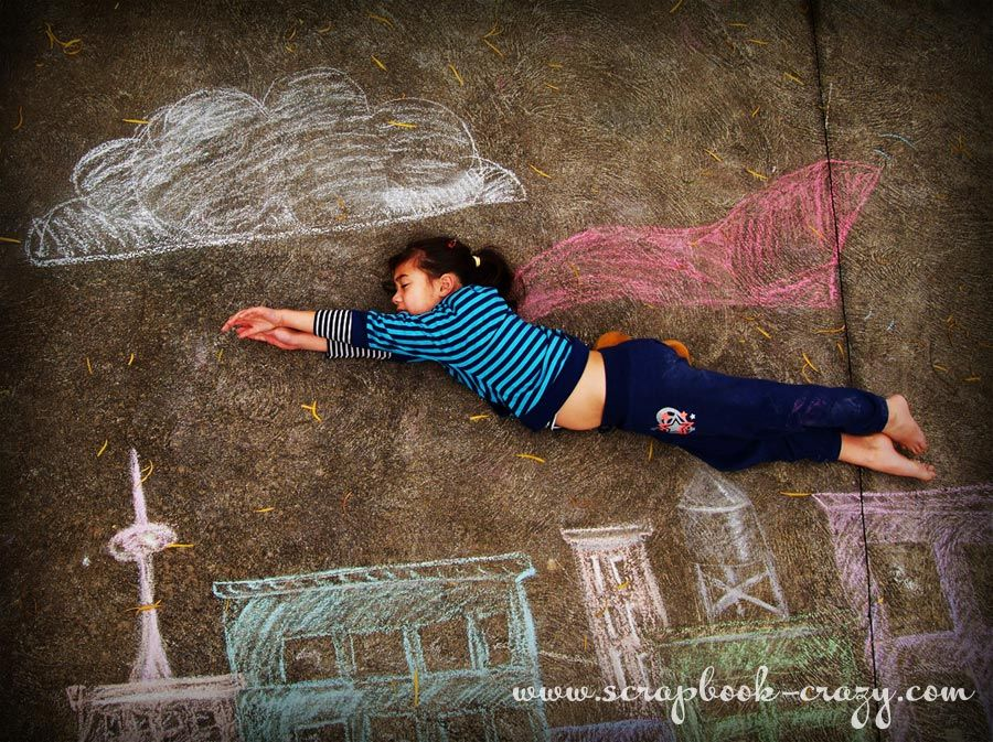 Crazy about mini albums: Sidewalk Chalk Photograph experiment