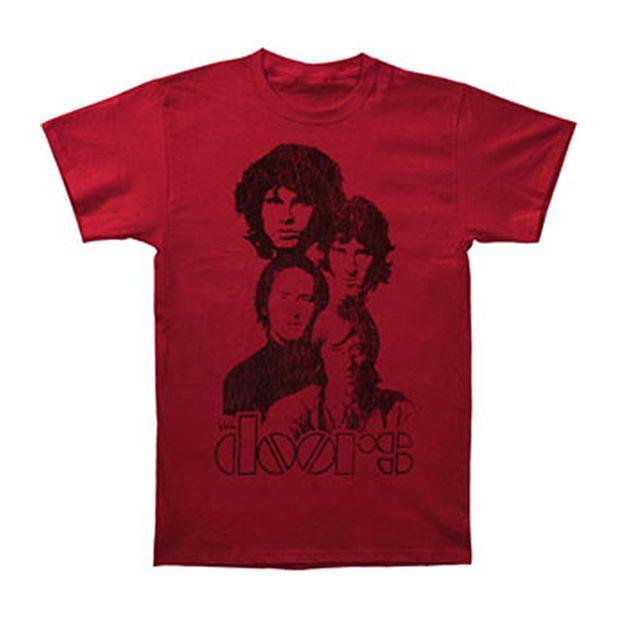 Doors Men's  Totem 30/1 Enzyme Wash Slim Fit T-shirt Red