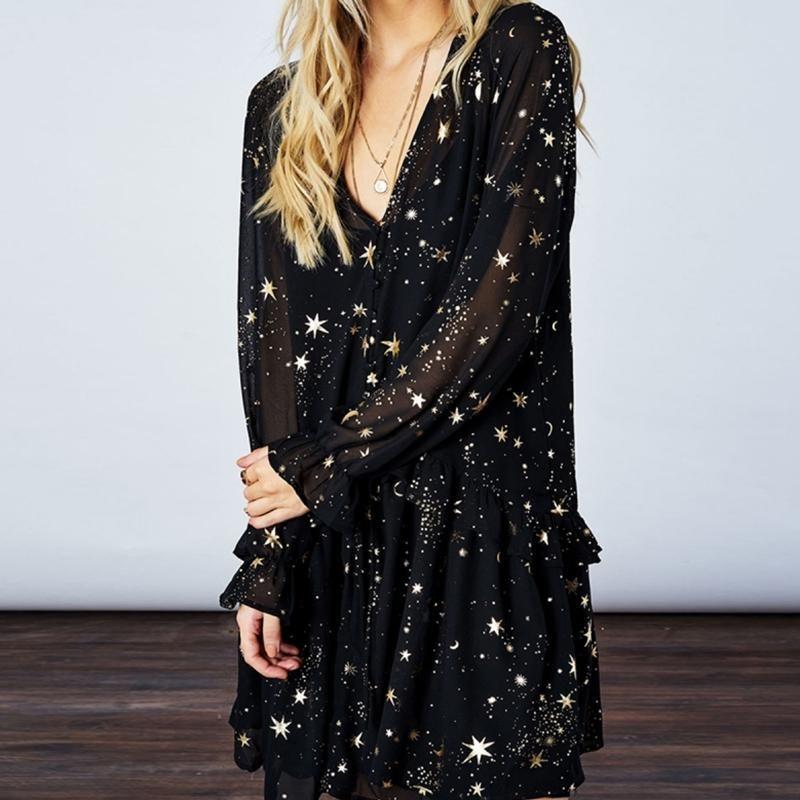 7d488297ef Stars Keeper' Long Sleeve Dress in 2019 | Style | Ruffle sleeve ...