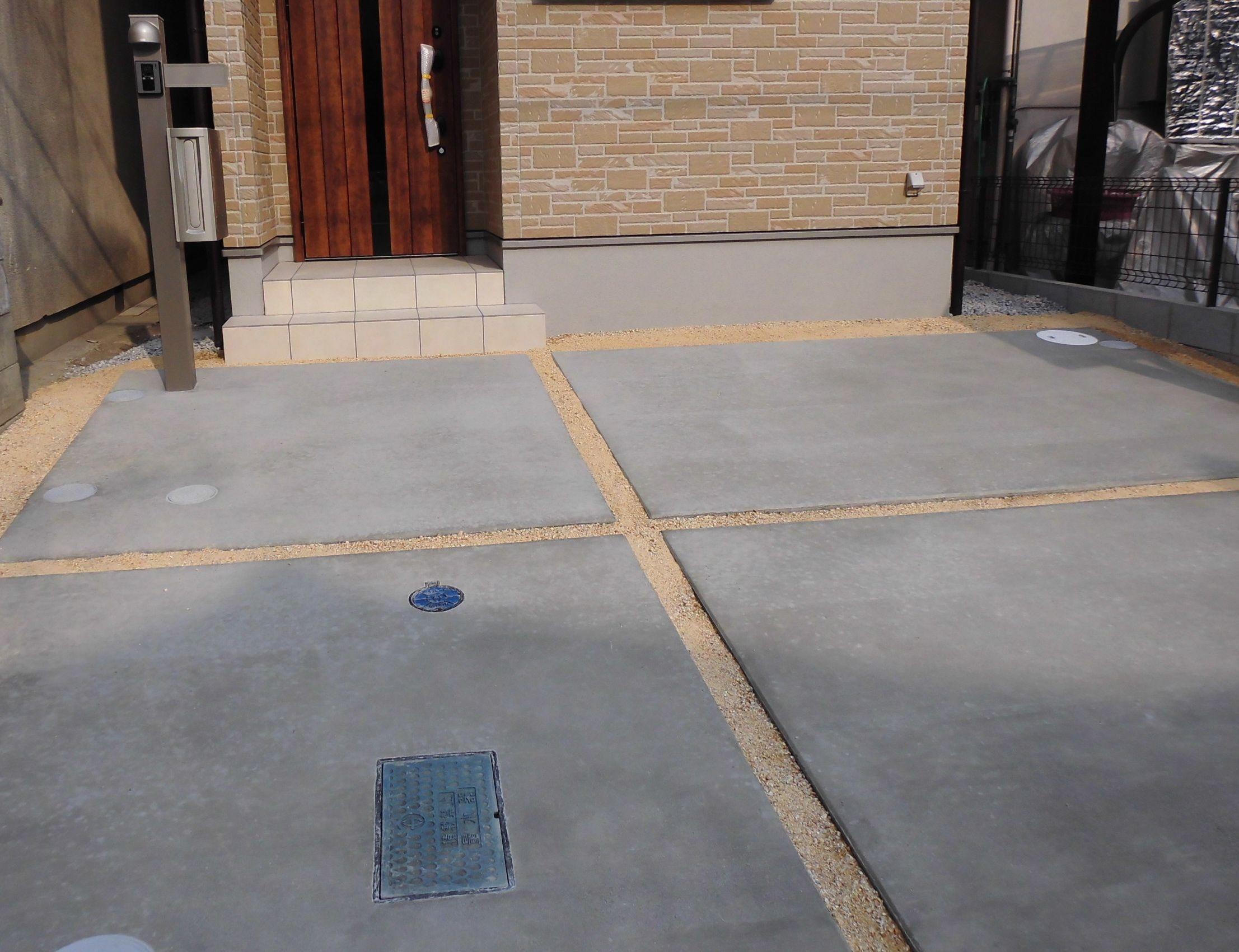 駐車スペース スリット 砂利 Google 検索 駐車スペース 外構 オープン外構