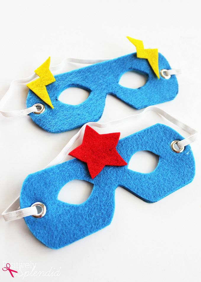 No Sew Superhero Mask Arts Crafts For Teens Sewing