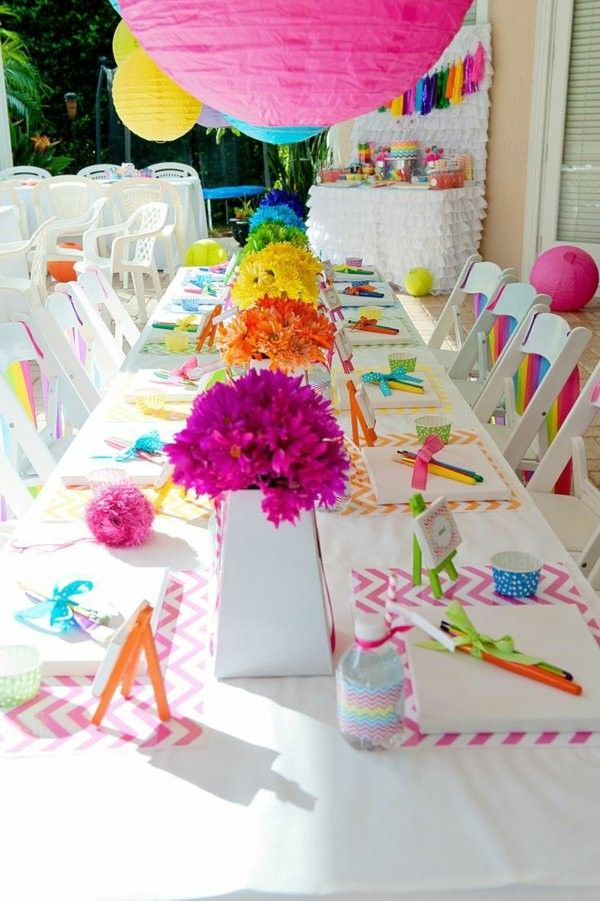 Wonderful Table Decorations For The Childrenu0027s Birthday!   Decor10 Blog