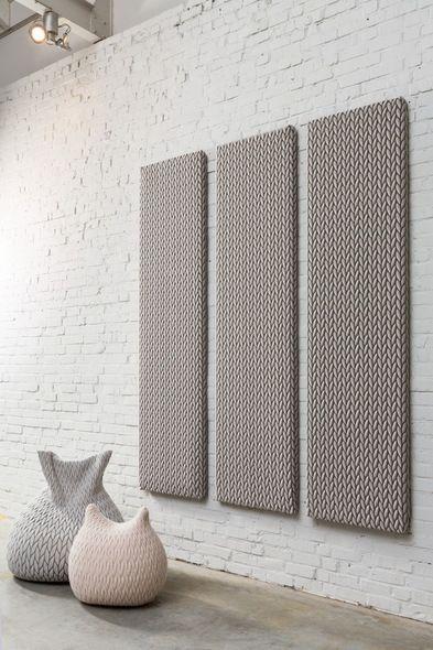 Cello Acoustic panels Interior design textiles by Casalis www - interieur design dreidimensionaler skulptur