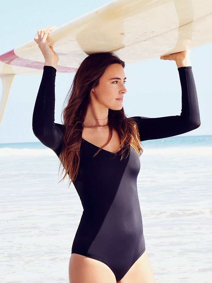 Free People Long Sleeve One Piece, $148.00 ......................... ballet on the water, mermaid SUP surfer girl :) .................
