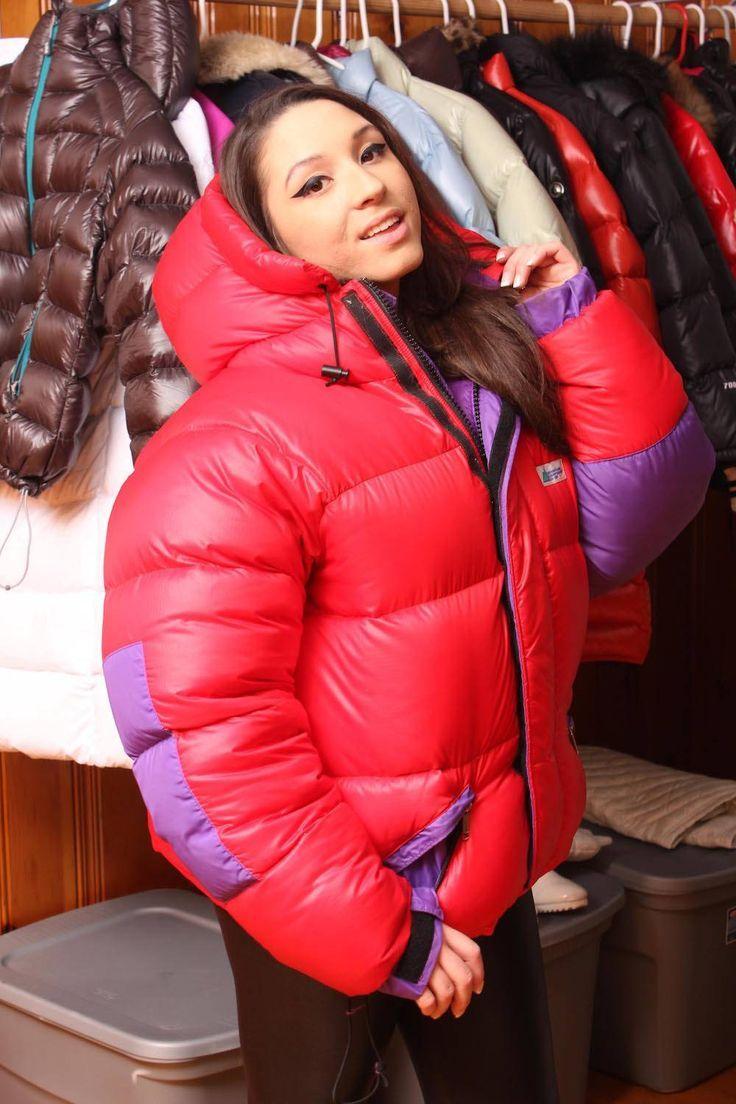 Jean Jacket Outfits Ideas | Puffer jacket women