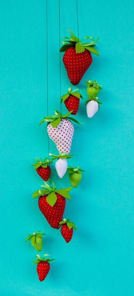 Girlande Erdbeeren Tilda Dekoration Acufactum Von Stoffdekor Auf