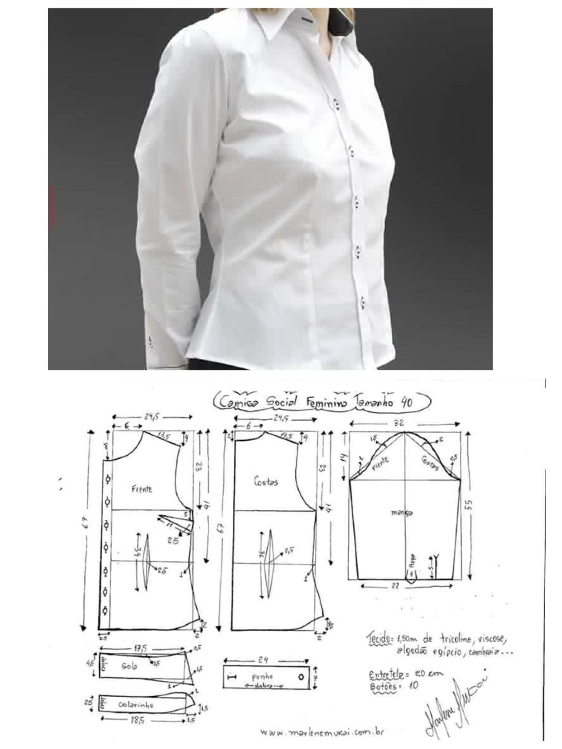 Kemeja wanita Women shirt pattern | garments | Pinterest | Shirt ...