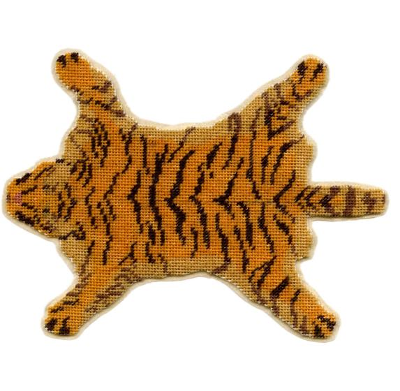 Tiger-skin Dollhouse Needlepoint Carpet Kit