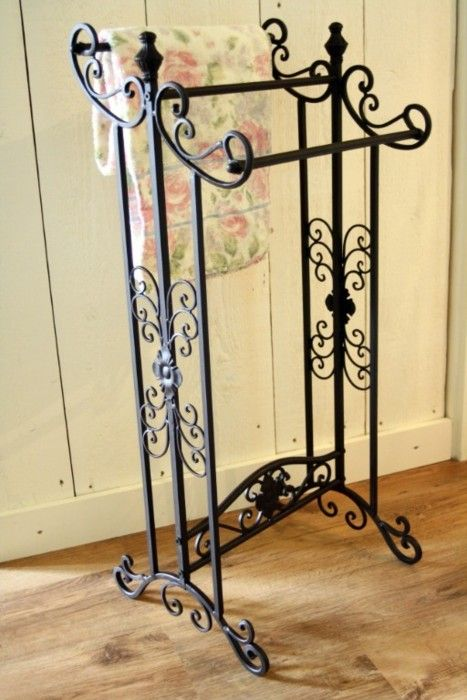 iron towel rack. So pretty! | Need it | Pinterest | Iron, Towels and ...