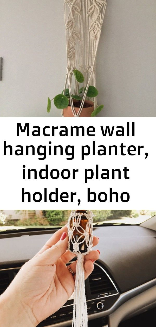 Macrame wall hanging planter indoor plant holder boho plant pot bohemian macrame leaves driftw 5 Macrame wall hanging planter indoor plant holder Boho plant pot bohemian...
