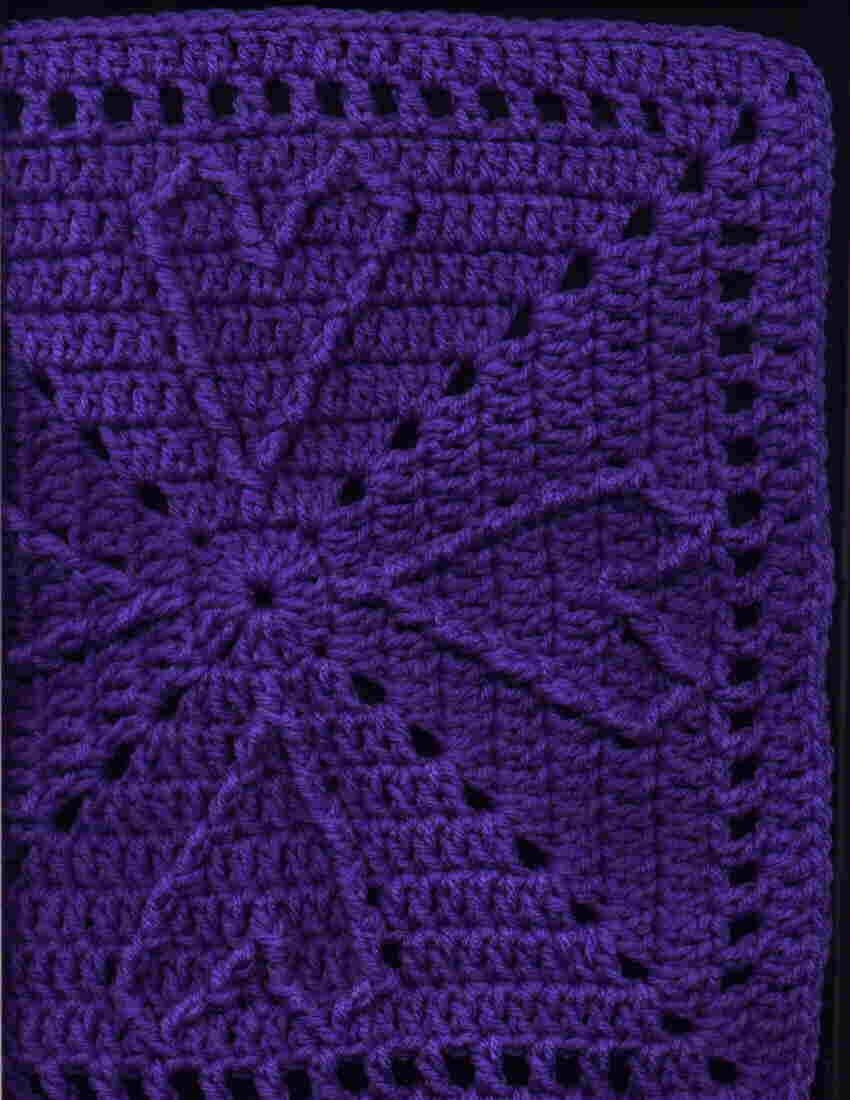 Cable Heart Free Crochet Square Pattern 12 Inch | Crochet