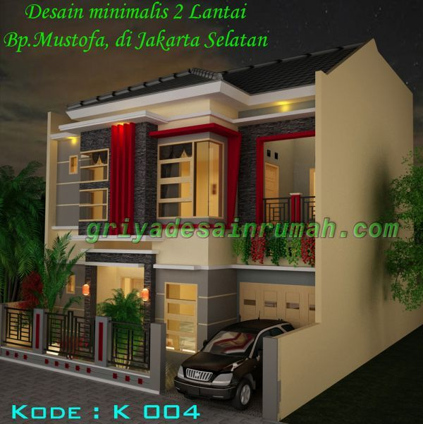 Desain Rumah Minimalis Modern 2 Lantai Di Jakarta Home Elevation