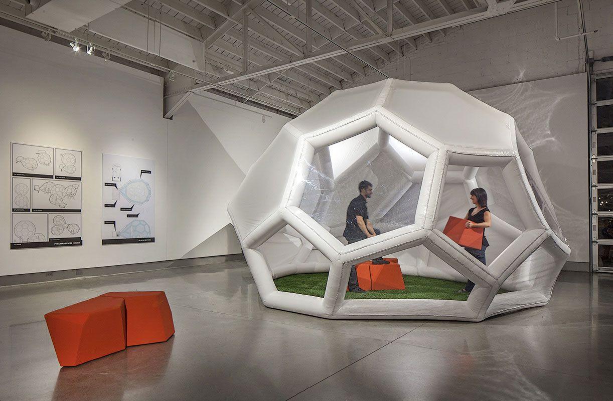Ejemplos de inflables que sorprender en el mundo de la arquitectura neumática. Aire inflable con diseño y formas nuevas