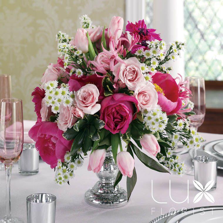 Pink Centerpiece (BW2321) Pink wedding arrangements