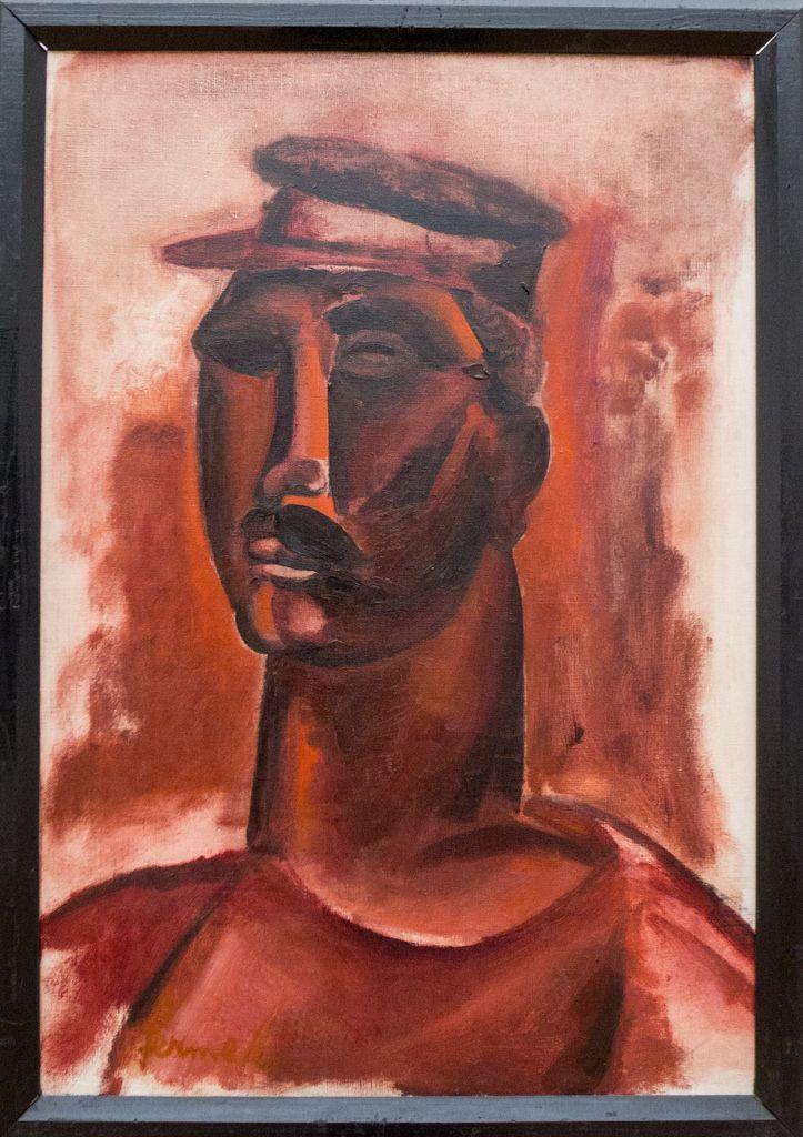 """Constant Permeke (1886-1952 ) De oorlogsperiode 1940-1944 werd voor Permeke, zowel menselijk als artistiek, een tragedie. Zijn zoon Paul werd door de Duitsers weggevoerd en hemzelf werd het schilderen verboden. Zijn kunst, zoals het hele expressionisme werd als """"entartet"""" beschouwd. In 1946 was zijn zoon uit het gevangenkamp teruggekeerd en vond Permeke zijn werkkracht terug in vernieuwde levensvreugde."""