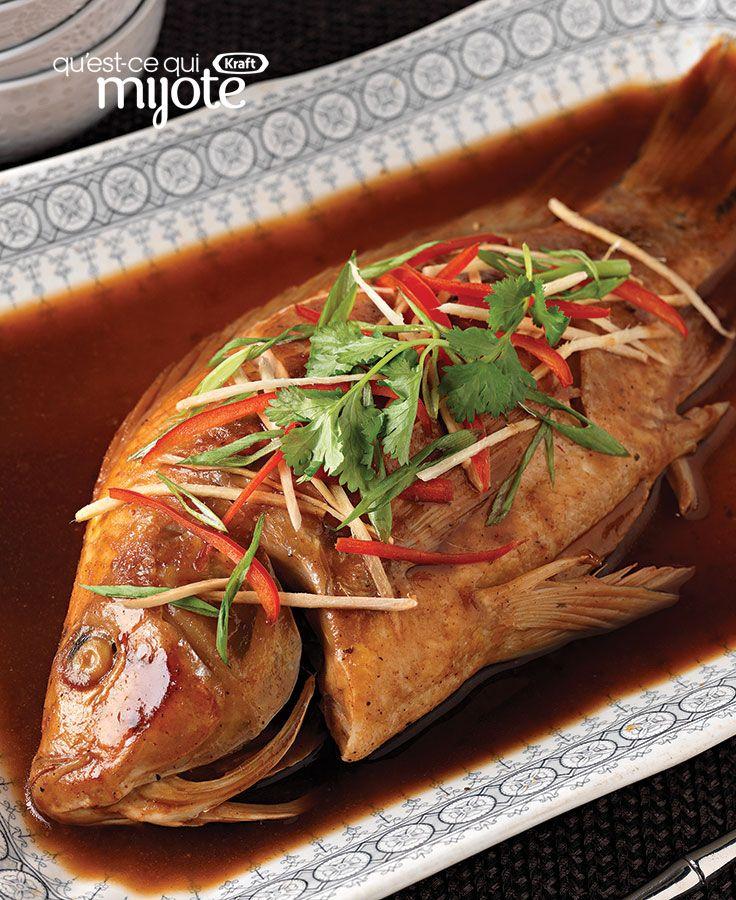 poisson entier cuit la vapeur soulignez le nouvel an chinois en pr parant ce plat. Black Bedroom Furniture Sets. Home Design Ideas