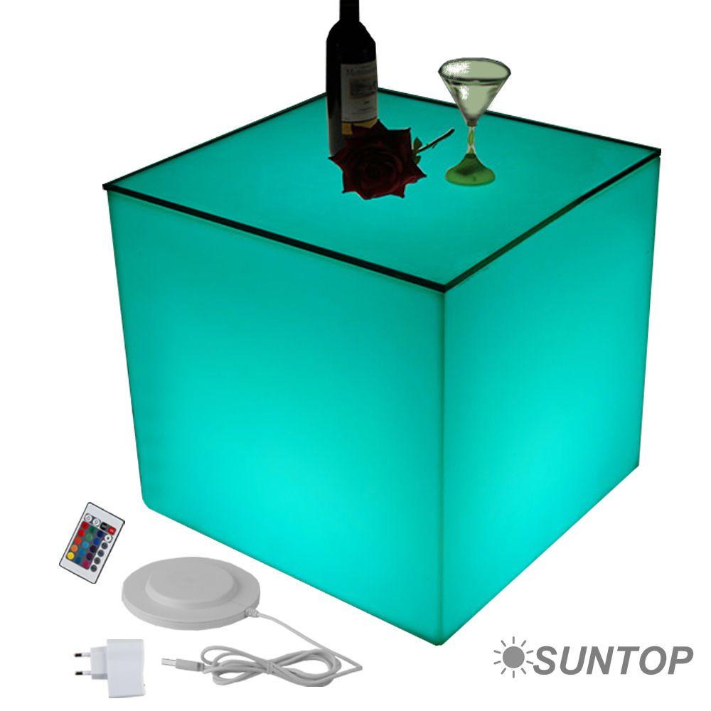 Led Design Cube Tischwurfel 50cm Leuchtwurfel Tisch Beistelltisch