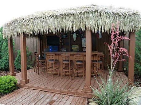 It S Got A Tiki Hut Tiki Bars Backyard Backyard Bar Outdoor