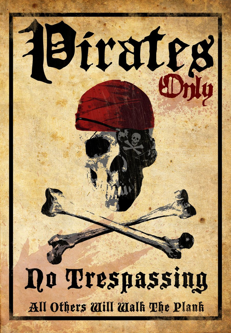 PIRATES ONLY SIGN METAL 8X12 INCHES NEW NO TRESPASSING JOLLY ROGER SWORDS L699
