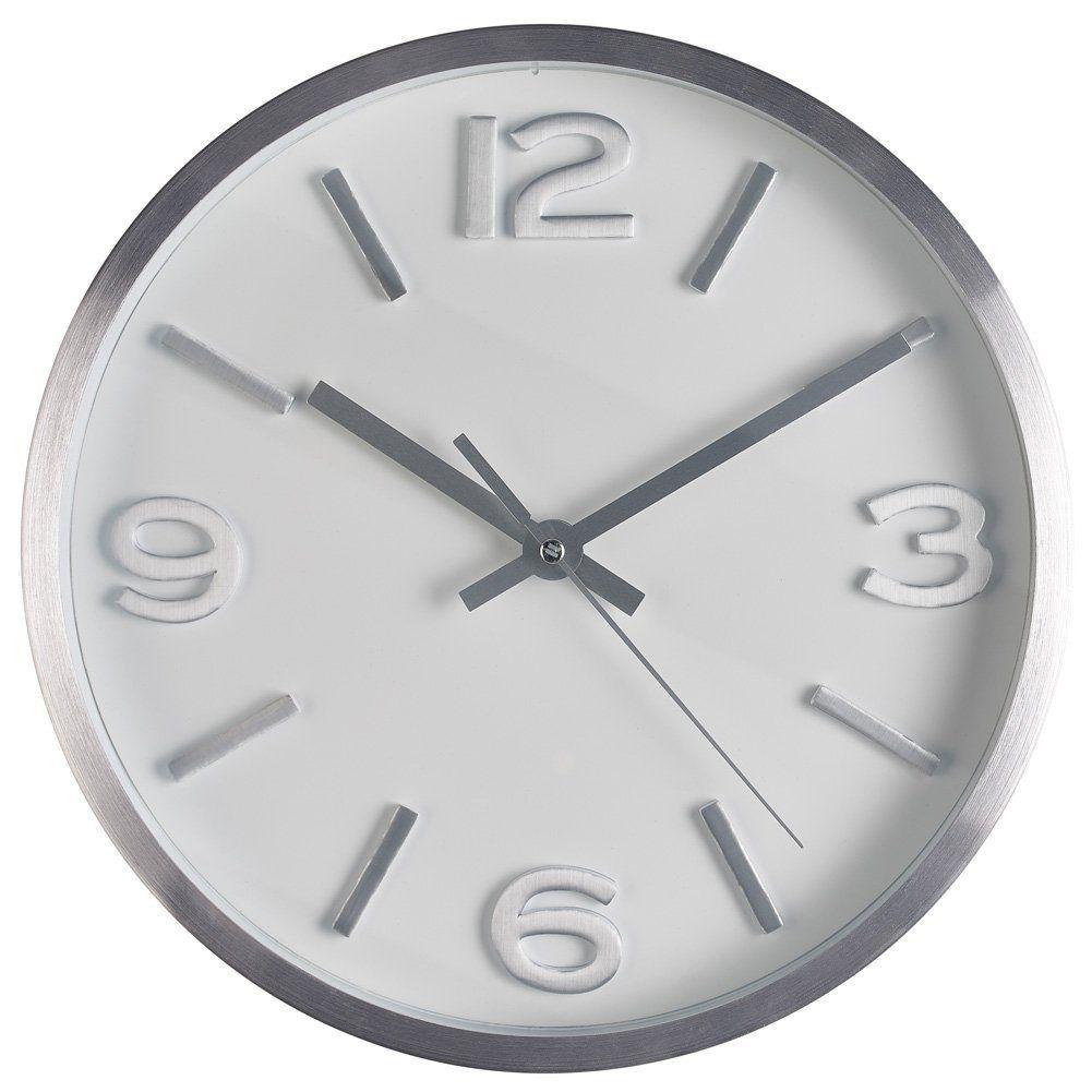 Amazon Com Wall Clock 10 Inch Modern Silver Round Elegant Metal Wall Clock Quality Quartz Battery Operated Home Wall Clock Diy Clock Wall Wall Clock Copper