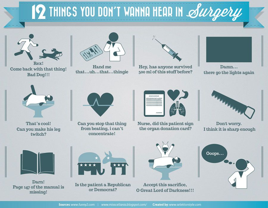 12 Things You Don't Want to Hear in Surgery Medical