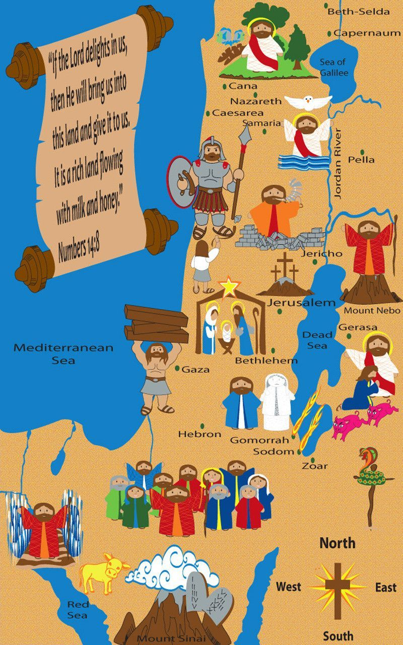 print download the ministry of jesus map updated link bible