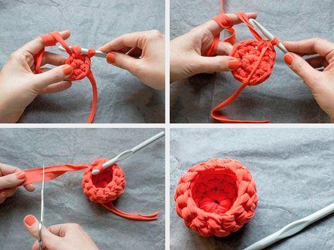 diy anleitung eierbecher aus textilgarn h keln via ei. Black Bedroom Furniture Sets. Home Design Ideas