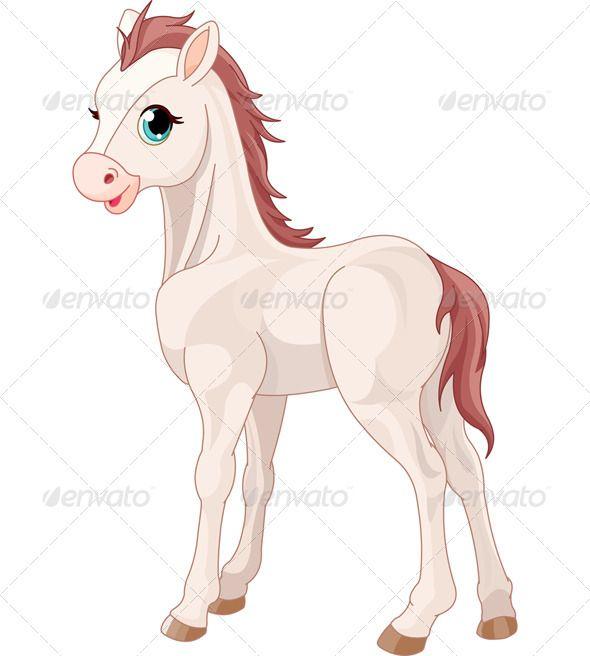 Horse Foal Horse Cartoon Cute Cartoon Pictures Animal Icon