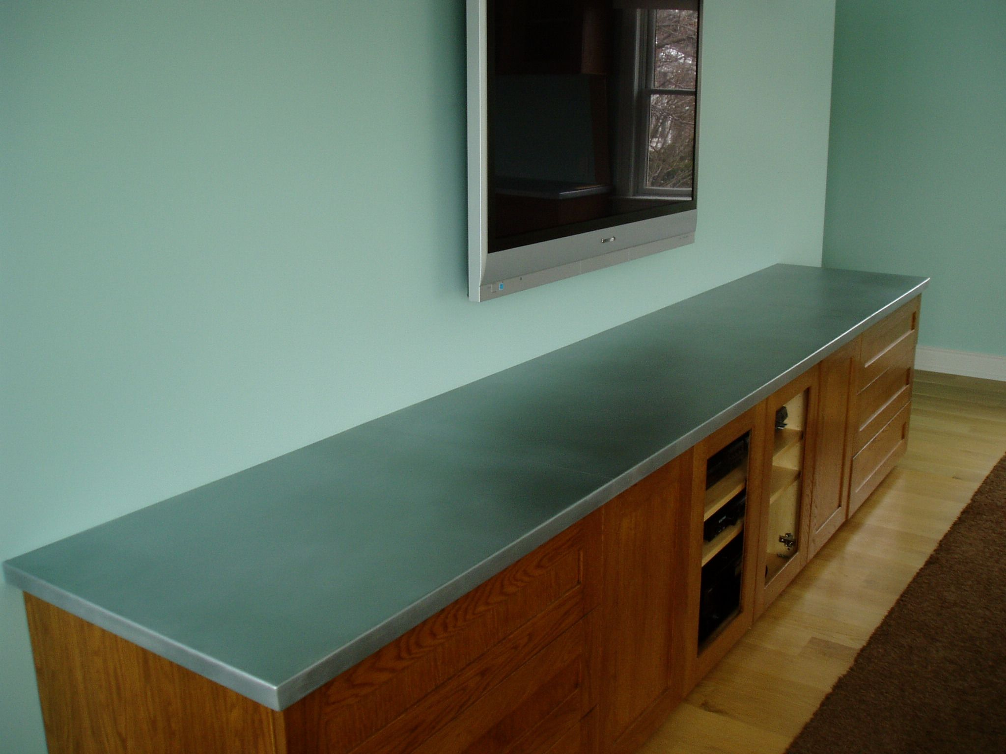 Not just for the kitchen, this #zinc countertop works great for an ...