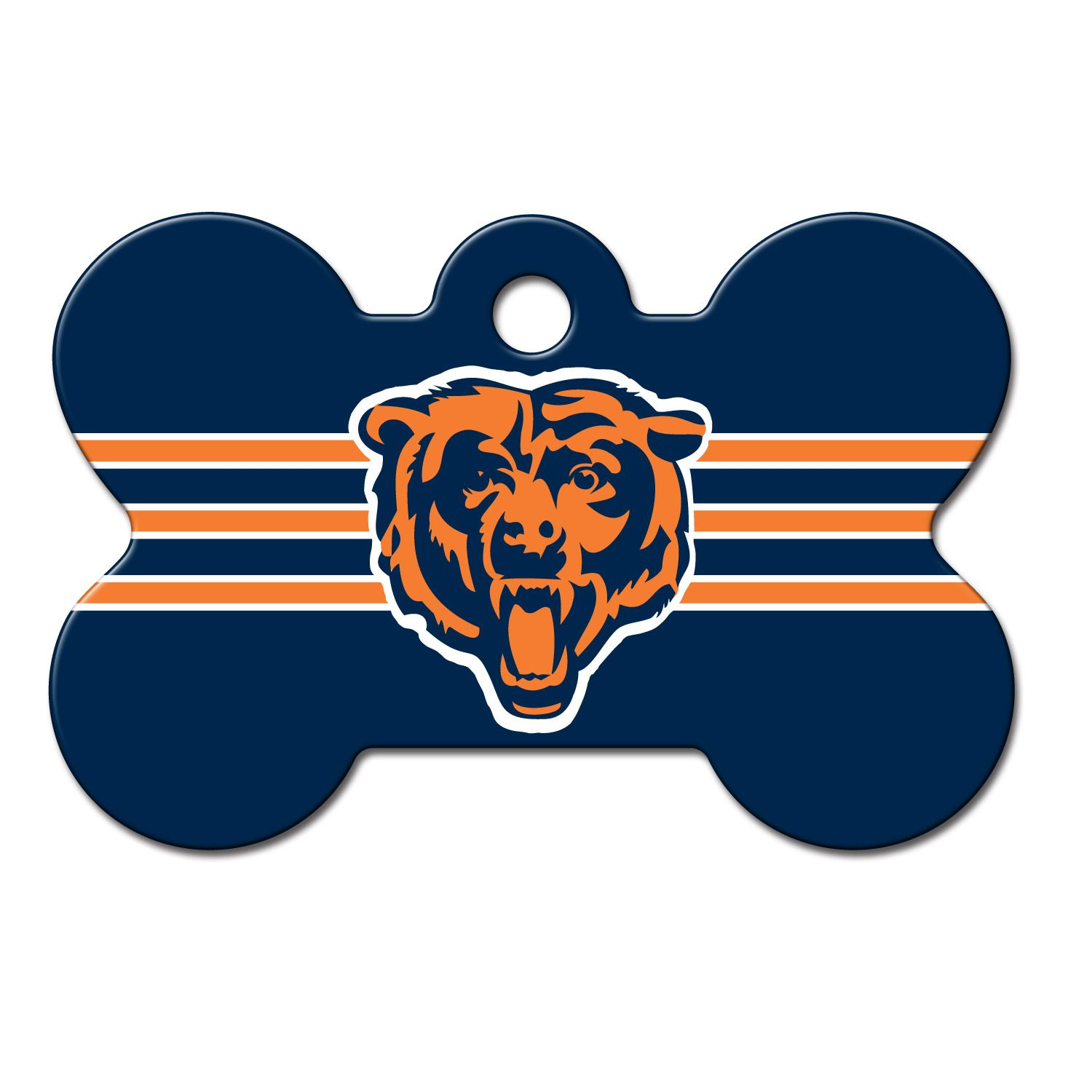 339efd98f36 Quick-Tag Chicago Bears NFL Bone Personalized Engraved Pet ID Tag ...
