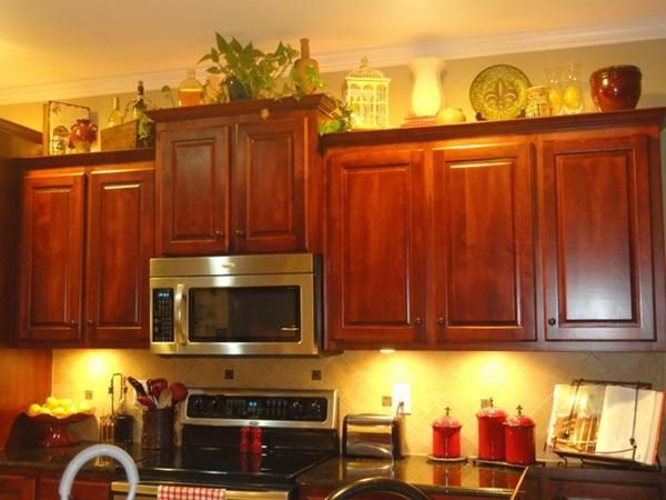 kitchen cabinets ideas » decorating above kitchen cabinets with