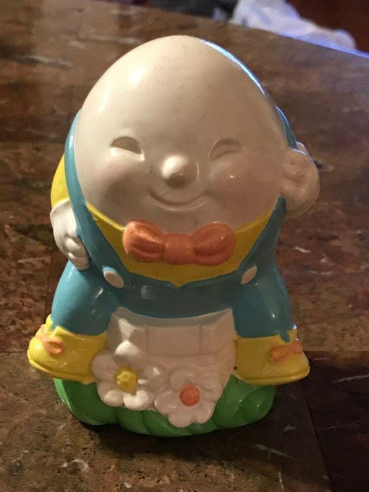 Avon Vintage Humpty Dumpty Bank 1982 Knick Knack Ceramic Mother Goose Fairy Tale #Avon #knickknack