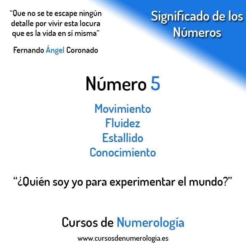 Número 5 Numerologia Numerology Cursosdenumerologia Numerology