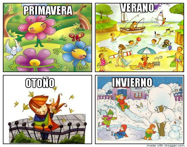 Las Cuatro Estaciones Actividades De Aprendizaje Para Ninos Estaciones Del Ano Actividades De Lectura Preescolar