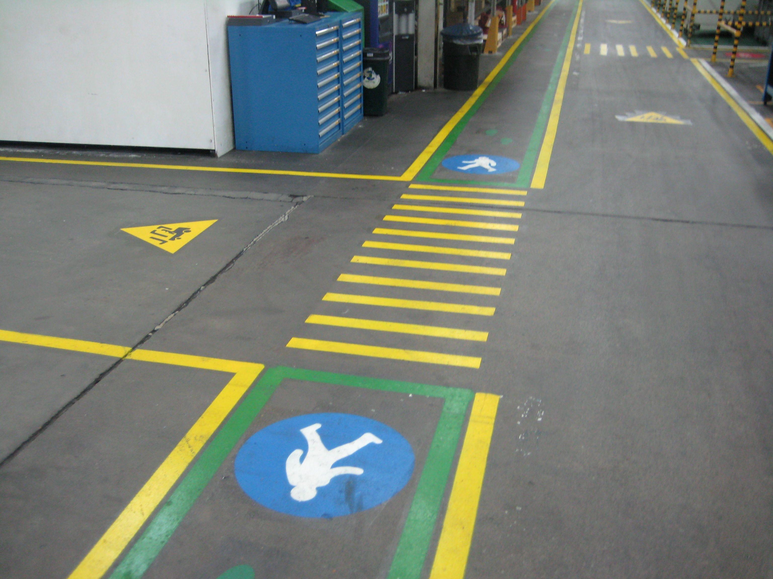 Factory Walkway Specialist markings lms Well Organised