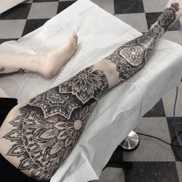 021c8f59f Tattoo inspirations, mainly dotwork, promotion of tattoo artists Mandala  Tattoo Sleeve, Mandala Lion