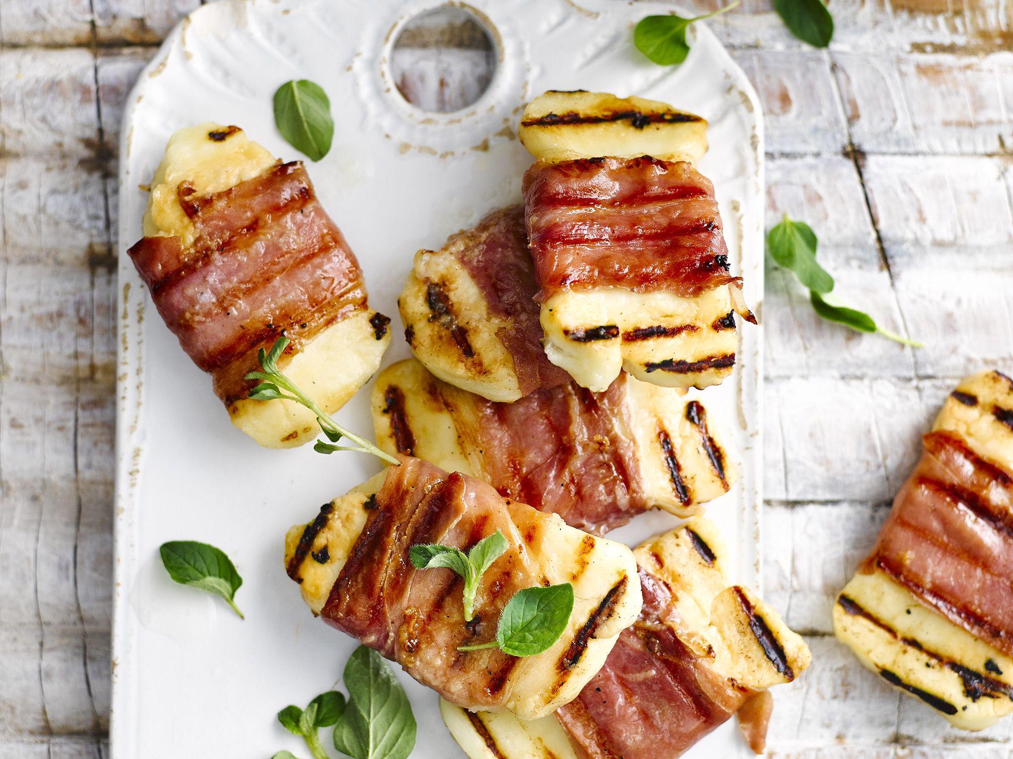 Prosciutto Wrapped Haloumi Recipe Haloumi Recipes Food Recipes