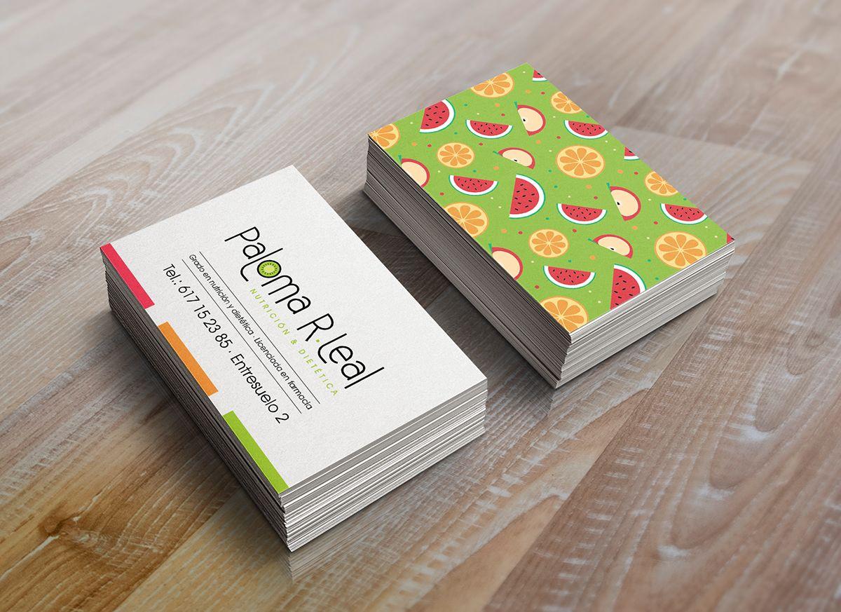 Muitas vezes Cartão de visita nutrição gastronomia | cartão de visita  LI08
