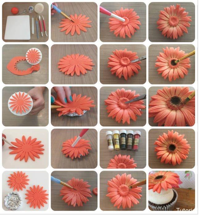 Fleur Gerbera pour cupCake