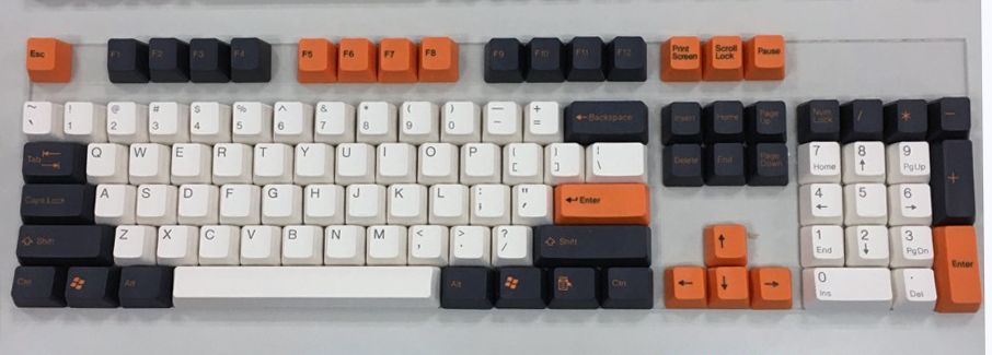 104 Key ABS Double Shot Keycap Set - Carbon (Tai-Hao) in