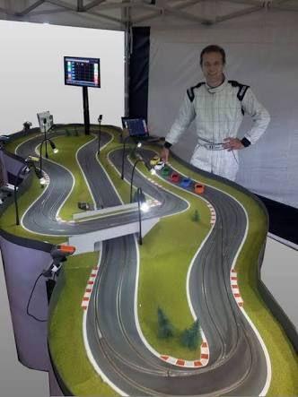 Resultado de imagen de wood routed slot car track photos