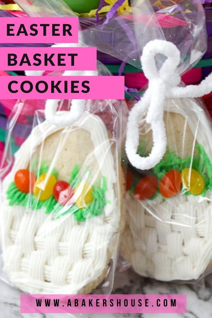 Sugar Cookie Easter Basket Cookies in 2020 | Easy easter ...
